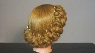 Греческие прически на длинные волосы, элегантные французские спиральки