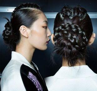 Стильные прически на длинные волосы, оригинальная прическа из нескольких кос
