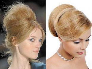 """Прически в стиле 50 х годов на длинные волосы, очаровательная прическа """"бабетта"""""""