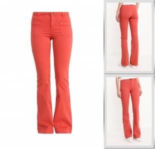Коралловые джинсы, джинсы united colors of benetton, весна-лето 2016