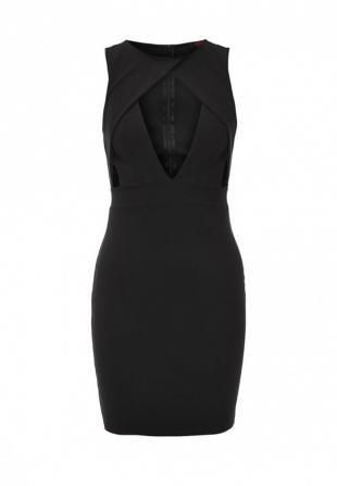 Черные платья, платье edge clothing, весна-лето 2016