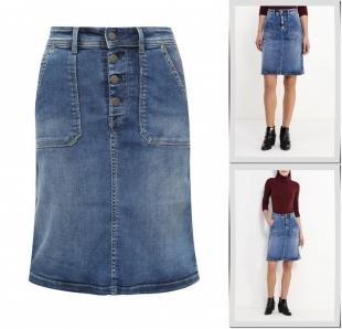 Джинсовые юбки, юбка джинсовая pepe jeans, осень-зима 2016/2017