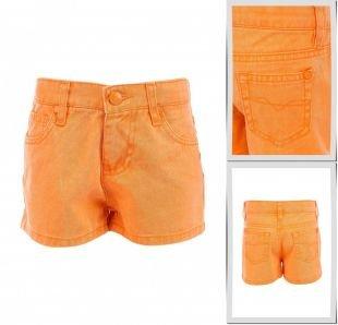 Оранжевые шорты, шорты джинсовые modis, весна-лето 2015
