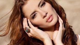 Макияж для рыжих, нежный макияж для шатенок с карими глазами