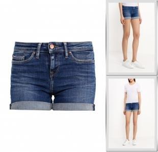 Синие шорты, шорты джинсовые tommy hilfiger, весна-лето 2016