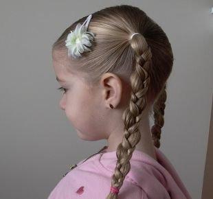 Праздничные детские прически на длинные волосы, аккуратная детская прическа на выпускной