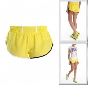 Желтые шорты, шорты спортивные reebok, весна-лето 2015