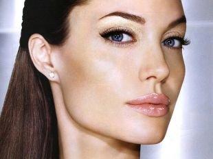 Быстрый макияж, макияж для голубых глаз с перламутровыми тенями