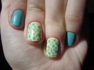 Леопардовые рисунки на ногтях, маникюр в горошек на короткие ногти