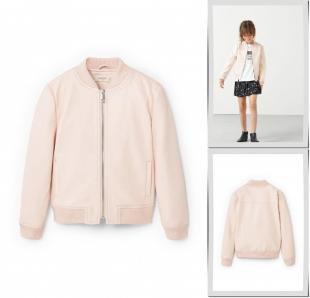 Розовые куртки, куртка кожаная mango kids, осень-зима 2016/2017