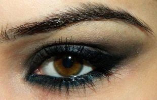 Восточный макияж для карих глаз, удивительный макияж смоки айс