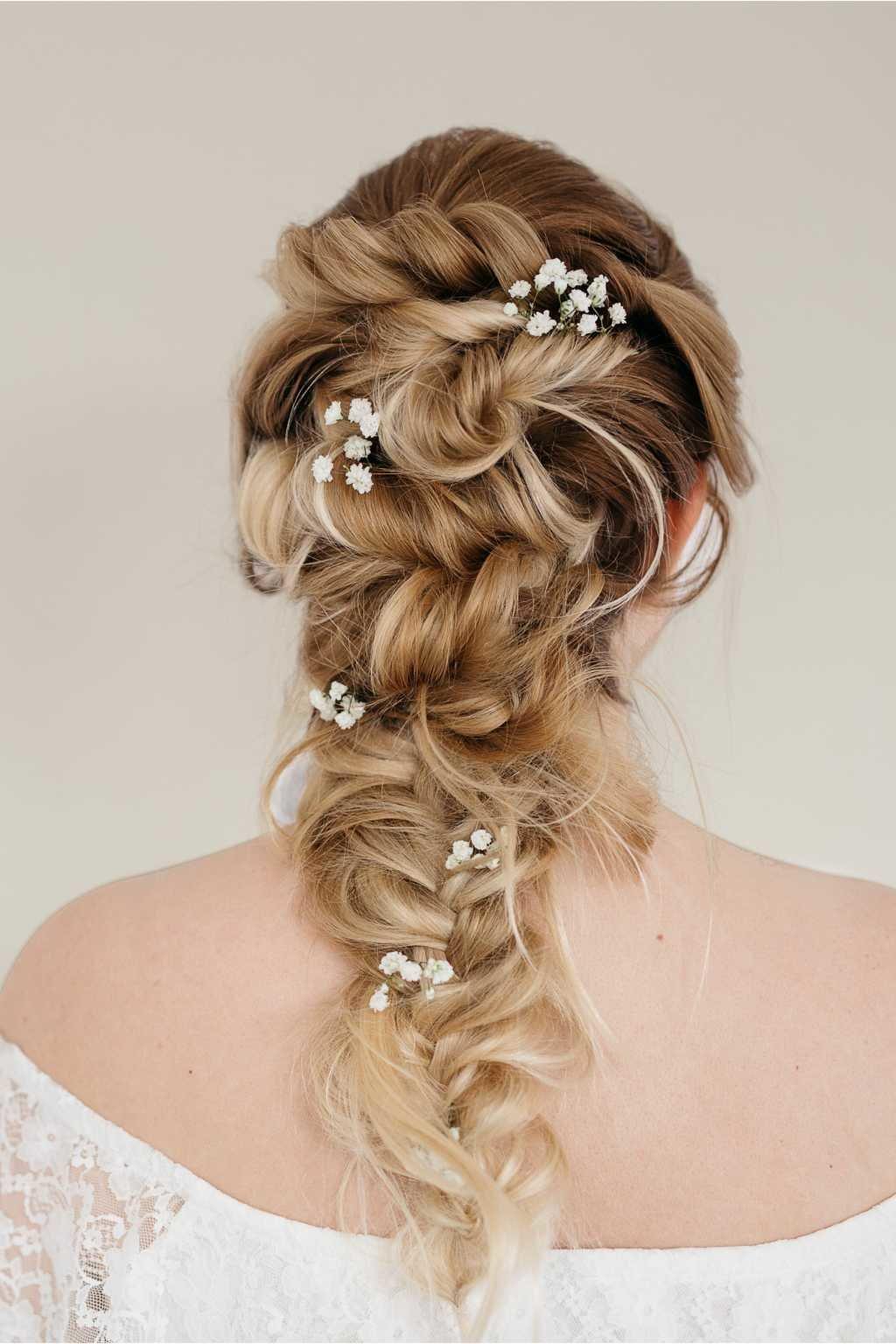 Свадебные прически с косами и плетением (фото)