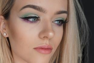 Макияж для голубых глаз, модный летний макияж для блондинок