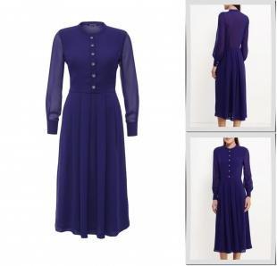 Фиолетовые платья, платье gregory, осень-зима 2016/2017