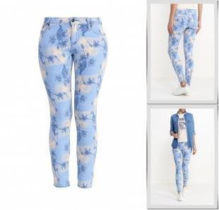 Разноцветные джинсы, джинсы roxy, весна-лето 2016
