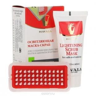 "Натуральный скраб, осветляющая скраб-маска ""mavala"" для ногтей, 15 мл"