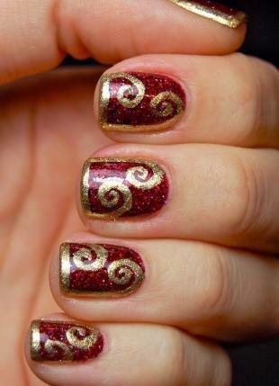 Новогодние рисунки на ногтях, роскошный маникюр на новый год