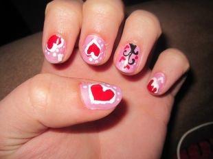 Дизайн ногтей в домашних условиях, маникюр с сердечками своими руками