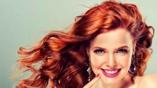Ярко рыжий цвет волос, золотисто-рыжий цвет волос
