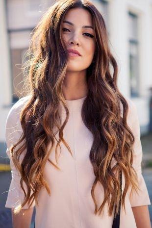 Мелирование на темные волосы на длинные волосы, мелирование на темные волосы с отступом от корней