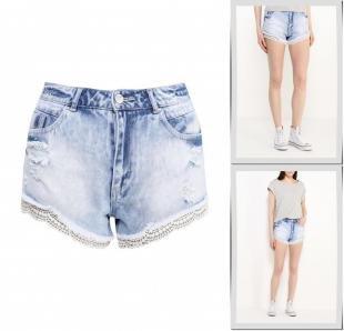 Голубые шорты, шорты джинсовые concept club, весна-лето 2016
