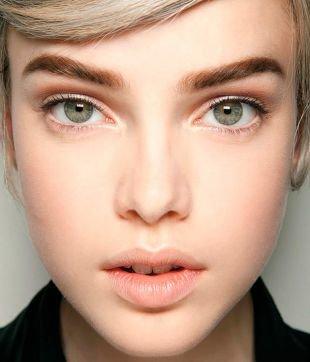 Легкий макияж для серых глаз, дневной макияж зеленых глаз