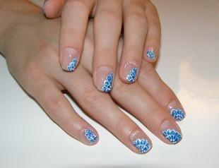 Маникюр на коротких ногтях, дизайн ногтей с бесцветным лаком