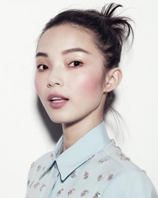 Корейский макияж, быстрый макияж для узких глаз