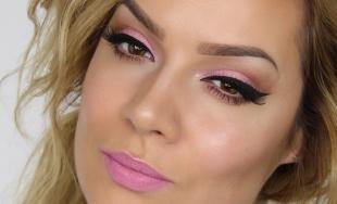Летний макияж для карих глаз, макияж на выпускной в розовых тонах