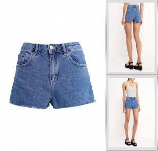 Синие шорты, шорты джинсовые topshop, весна-лето 2016