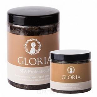 Скраб Gloria, gloria, скраб антицеллюлитный для тела с кофеином, 200 мл