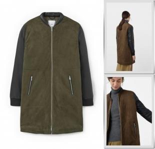 Хаки куртки, куртка кожаная mango, осень-зима 2016/2017