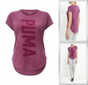 Бордовые футболки, футболка спортивная puma, осень-зима 2016/2017