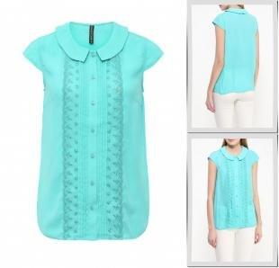 Бирюзовые блузки, блуза concept club, весна-лето 2016