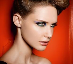 Вечерний макияж для зеленых глаз, оригинальный макияж глаз для фотосессии