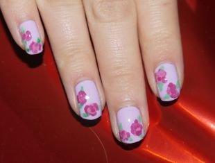 Нежные рисунки на ногтях, рисунки роз на ногтях