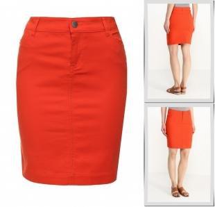 Оранжевые юбки, юбка sela, весна-лето 2016