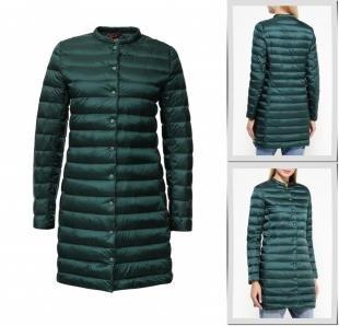 Зеленые куртки, куртка утепленная befree, осень-зима 2016/2017