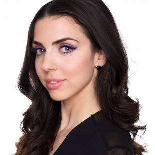 Макияж для далеко посаженных глаз, повседневный макияж с синим карандашом