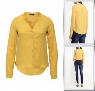 Желтые блузки, блуза motivi, весна-лето 2016