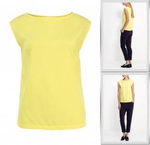 Желтые блузки, блуза top secret, весна-лето 2015