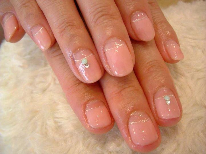 Французский маникюр (френч) на коротких ногтях, фото 16