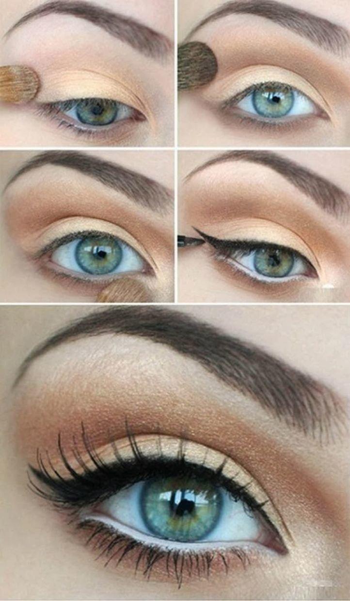 Дневной макияж зеленых глаз